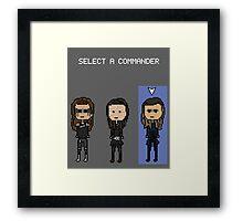 Select Commander Anya Framed Print