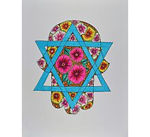 Hamsa/2 - Star of David Photographic Print