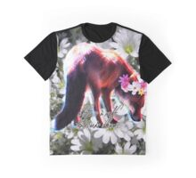 Fox in a Flower Crown Graphic T-Shirt