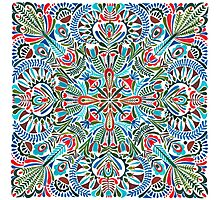 The middle of the Earth -  mandala pattern Photographic Print