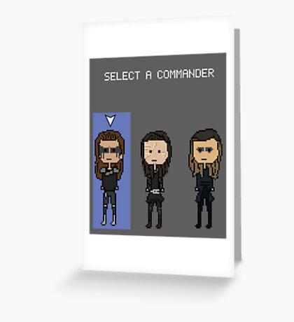 Select Commander Lexa Greeting Card