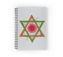 Star of David - Center Flower Spiral Notebook