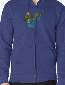 Sherloch Ness Monster Zipped Hoodie