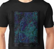 USGS TOPO Map Connecticut CT New Britain 330702 1966 24000 Inverted Unisex T-Shirt