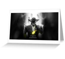 Twisted Fate Greeting Card