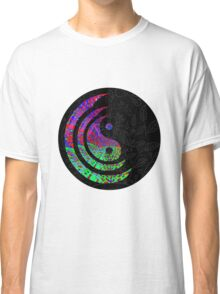 Yin Yang Hippie Balance Logo Round Psychedelic Colorful 70s Hip Classic T-Shirt
