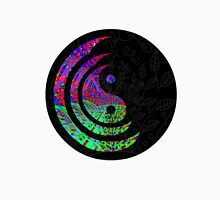 Yin Yang Hippie Balance Logo Round Psychedelic Colorful 70s Hip Unisex T-Shirt