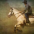 The Cowboy on a White Horse by Clare Colins