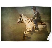 The Cowboy on a White Horse Poster