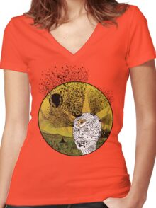Revealing the Third Eye Women's Fitted V-Neck T-Shirt