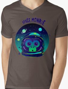 SPACE MONKIE Mens V-Neck T-Shirt