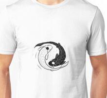 IPad Drawing of Koi Fish Ying Yang Unisex T-Shirt