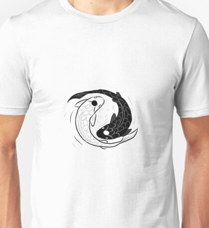 IPad Drawing of Koi Fish Ying Yang Unisex T-Shirt