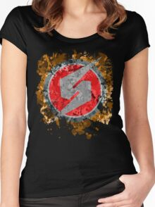 Metroid Symbol Splatter Women's Fitted Scoop T-Shirt