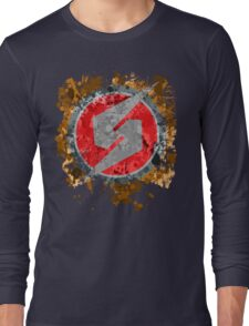 Metroid Symbol Splatter Long Sleeve T-Shirt