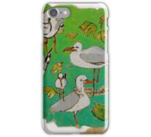 Leaves and Seagulls iPhone Case/Skin