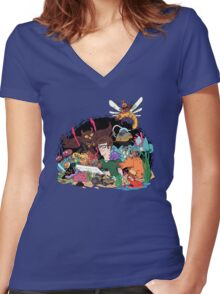 BEYOND THE IMAGINATION Women's Fitted V-Neck T-Shirt
