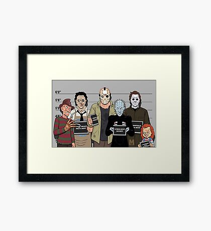 The Usual Suspects - Slasher Films Framed Print