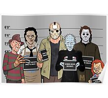 The Usual Suspects - Slasher Films Poster