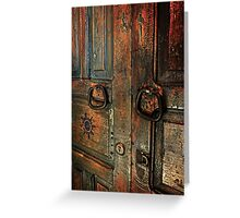 Door of Many Colors Greeting Card