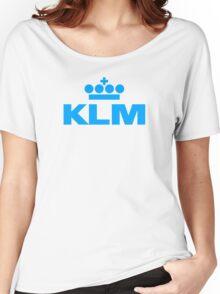 KLM Logo Women's Relaxed Fit T-Shirt