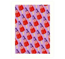Zoom Ice Lolly Pattern 2 Art Print