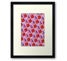 Zoom Ice Lolly Pattern 2 Framed Print