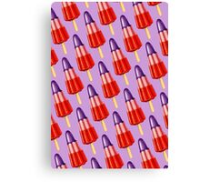 Zoom Ice Lolly Pattern 2 Canvas Print