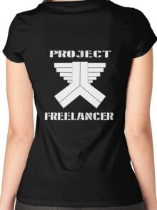 Project Freelancer Women's Fitted Scoop T-Shirt