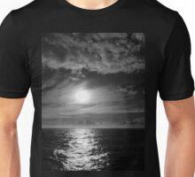 Ocean Sunset in Black & White Unisex T-Shirt