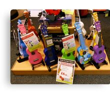Funky Guitars for Kids Canvas Print