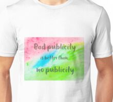 Inspirational abstract water color background Unisex T-Shirt