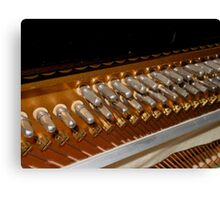 Points of Attachment - Inside The Piano Canvas Print