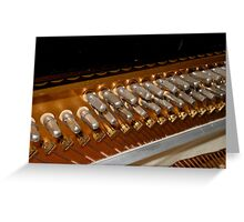 Points of Attachment - Inside The Piano Greeting Card