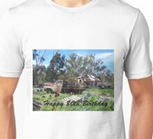 80th Birthday rustic Unisex T-Shirt