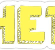 Kappa Alpha Theta Block  Sticker