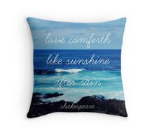 LOVE AND THE SEA Throw Pillow