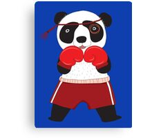 Cartoon Animals Fighting Boxing Panda Bear Canvas Print