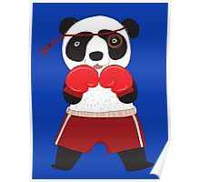 Cartoon Animals Fighting Boxing Panda Bear Poster