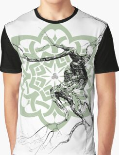 Celtic world tree ink drawing Graphic T-Shirt