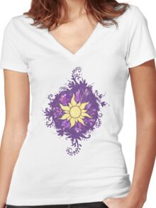 Sun Shine Women's Fitted V-Neck T-Shirt