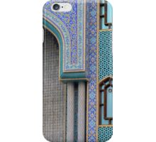 Colorful mosaic facade from mosque. iPhone Case/Skin