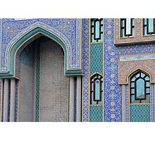 Colorful mosaic facade from mosque. Photographic Print