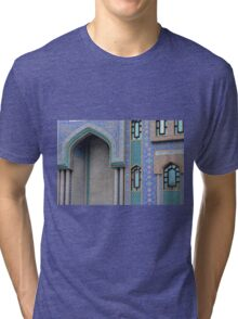 Colorful mosaic facade from mosque. Tri-blend T-Shirt