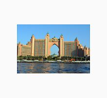 Photography of Atlantis Hotel in Dubai seen by the sea. United Arab Emirates. Unisex T-Shirt