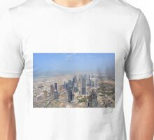 Photography of tall skyscrapers in Dubai. United Arab Emirates. Unisex T-Shirt
