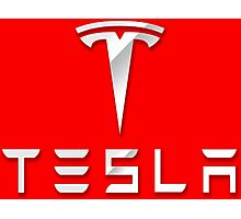 Tesla logo 2 Photographic Print