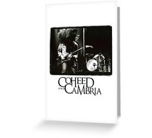 coheed and cambria concert claudio sanchez Greeting Card