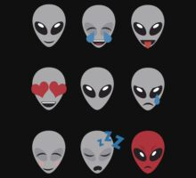 Space Alien Emoticons  One Piece - Short Sleeve