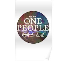 We Are One People, Unite The Earth  Poster